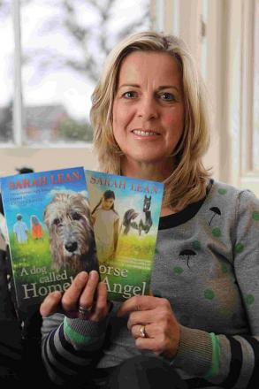 ANIMAL MAGIC: Children's author, Sarah Lean, with her debut book, A Dog Called Homeless, and new release, Horse Angel