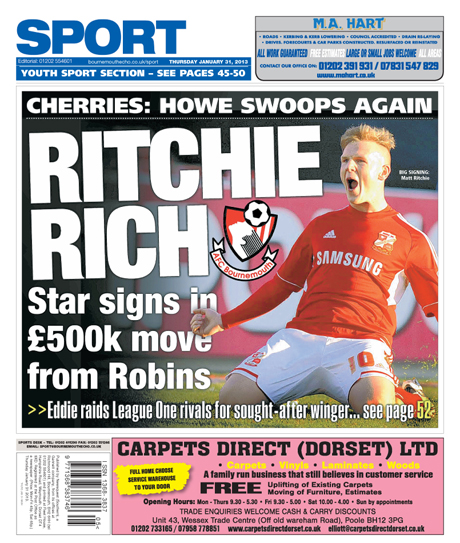 Back Page: Matt Ritchie signs for AFCB