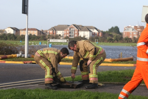 Firemen called in to drain school playing fields