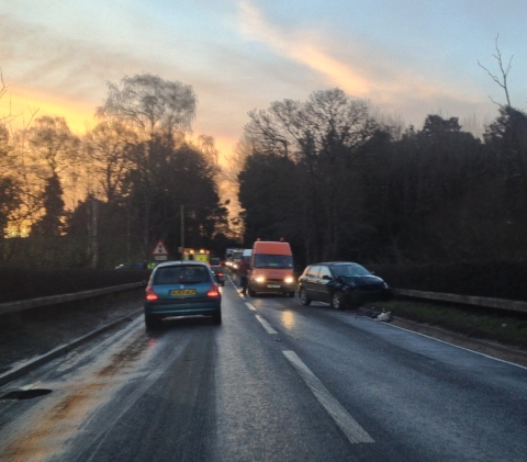 The accident on the A350 this morning