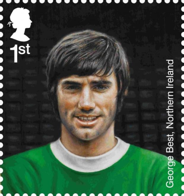 "Royal Mail tribute to ""former Cherries player"" George Best"