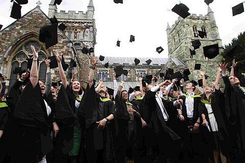 CELEBRATE: Graduation day 2011 at Wimborne Minster for the Arts University College