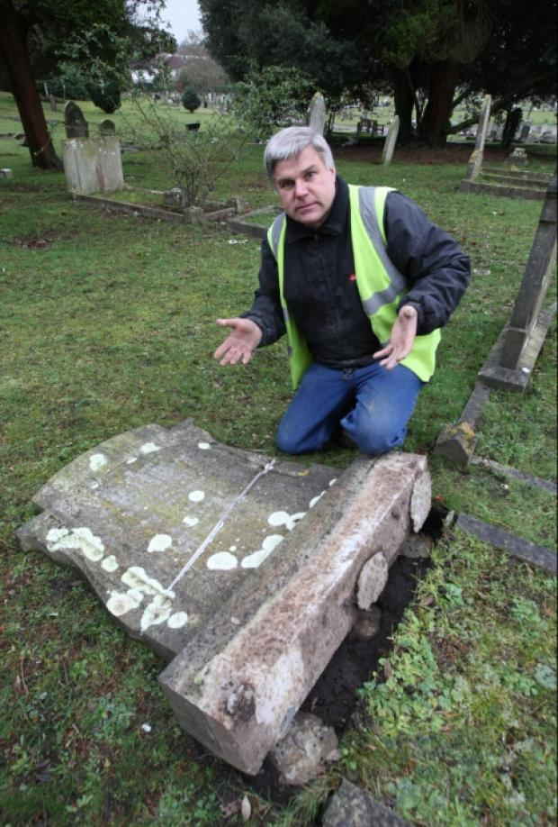 Vandals strike at Poole cemetery for second time