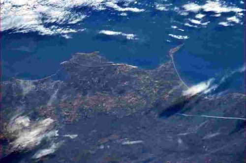 The Dorset coast from space