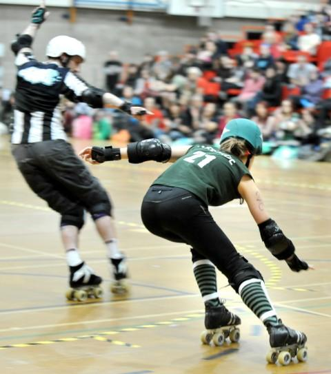 "Bournemouth Echo: ""Manchester's A-team captain, Sirenide, in action. Photo by Shirlaine Forrest"