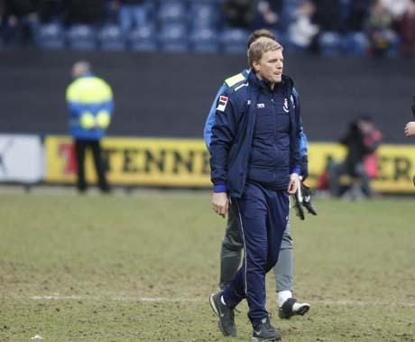 DISAPPOINTMENT: Eddie Howe at Deepdale