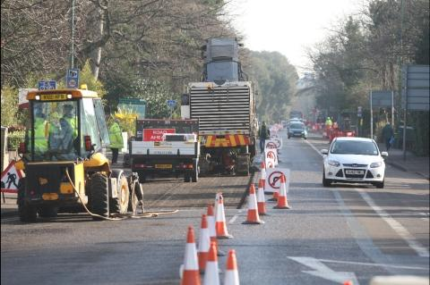 Major resurfacing works on A35 begins