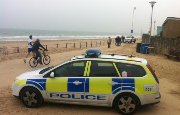 Grenade found washed up on Poole beach