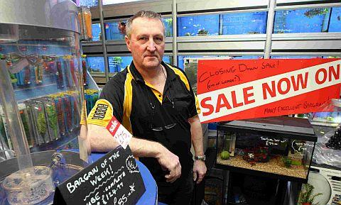 MOVING ON: Kevin Hillman of Pro Aquatics who will be closing his shop at the Dolphin Shopping Centre in Poole next month
