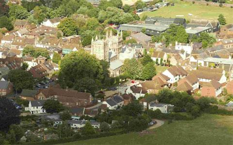 ALL CHANGE: East Dorset including Wimborne, pictured, could face changes if the core strategy idea supported by Cllr Spencer Flower is given the go-ahead. Picture: BOURNEMOUTH HELICOPTERS LTD