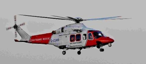 Poole RNLI and coastguard helicopter search seas for man seen in choppy water