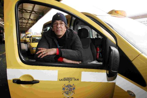 'VERY HARD': Taxi driver Azzedine Lemhazem at Bournemouth train station