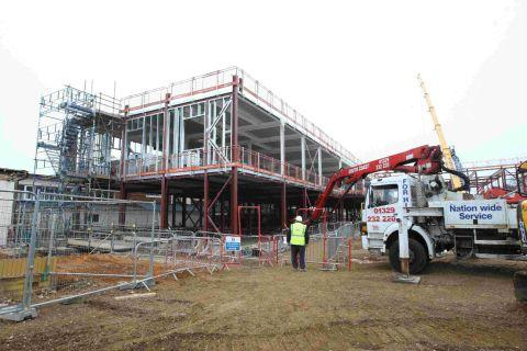 Work is well under way in constructing the new school buildings at St Aldhelm's Academy