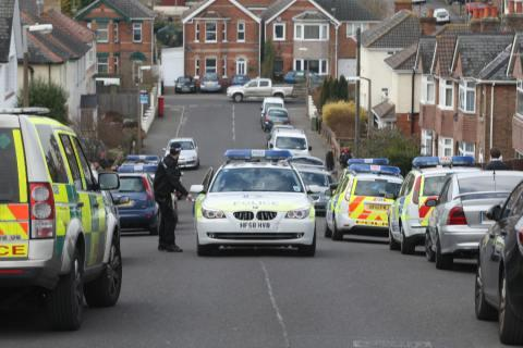 Police raid house in Crest Road, Parkstone