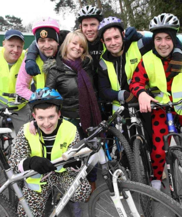 Mikey Maguire's (inset) friends took part in a 28-mile bike ride to raise funds for Mikey's Foundation
