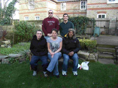 WE CAN HELP: Members of staff from Hope Housing