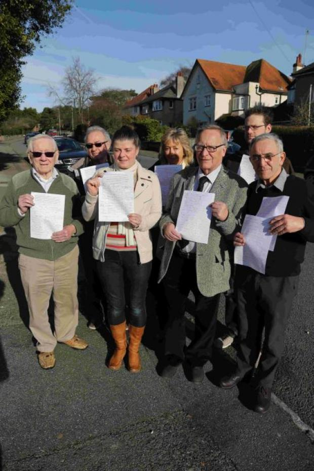 HOPEFUL: Residents who oppose the plan for parking to be removed from North Road in Poole