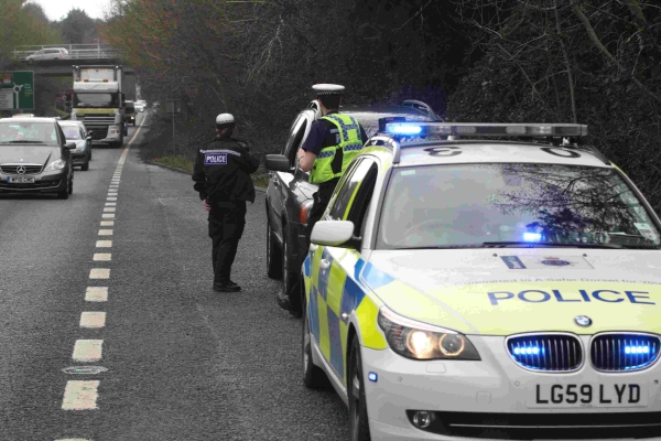 Police stop drivers of Volvo XC90s yesterday