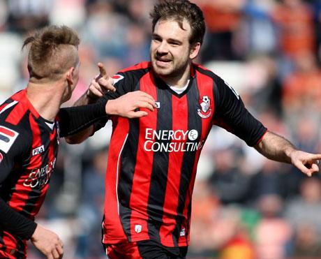 Bournemouth Echo: BRACE: AFC Bournemouth's Brett Pitman