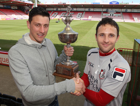 WINNERS PAST AND PRESENT: Tommy Elphick and Marc Pugh