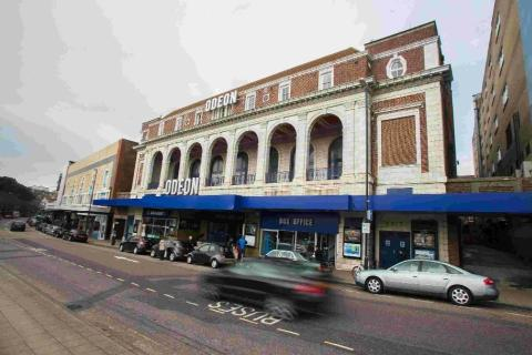 Bournemouth Echo: The Odeon on Westover Road in Bournemouth. Inset, Cllr Roger Marley and how the redesign may look
