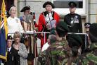 PARADE: The Rifles in Wimborne as they were given the Freedom of the Town by Wimborne Mayor Cllr John Burden