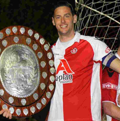 TITLE WINNER: Michael Walker has returned to Poole Town