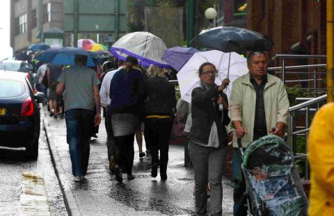 Waterproofs at the ready - wet and windy weather forecast for this weekend