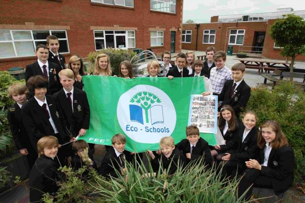 Green students at Ringwood School