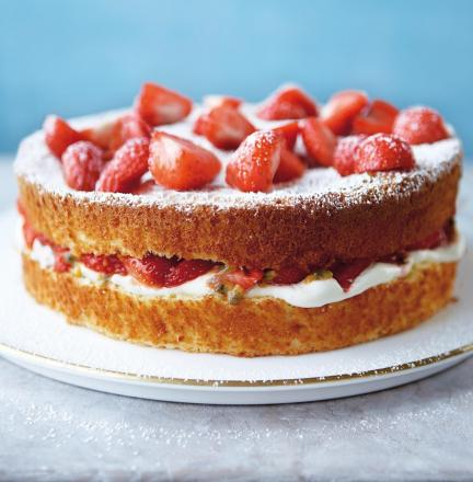 Mary Berry Cake Slice Strawberry