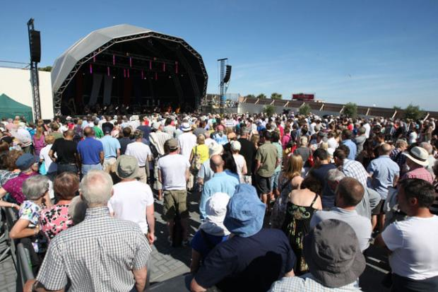 Bournemouth Echo: One of last year's concerts on the former Imax site