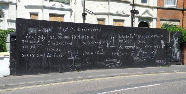 Can you solve graffiti maths equation on Boscombe wall?