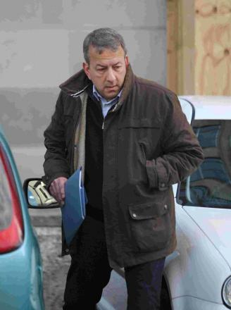 Former Dorset Police Detective Sergeant Peter Yeates outside Bournemouth Magistrates Court