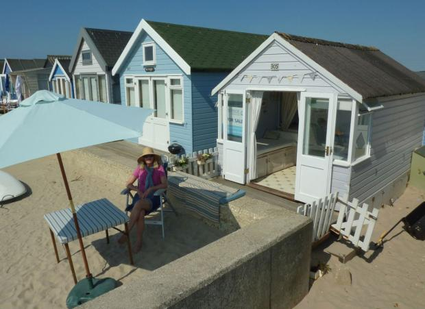 Bournemouth Echo: Yours for £200k: the Mudeford beach hut that's no bigger than a garden shed