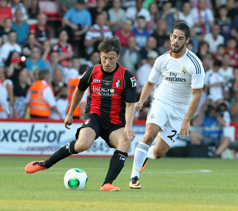 Harry Arter in action against Real Madrid