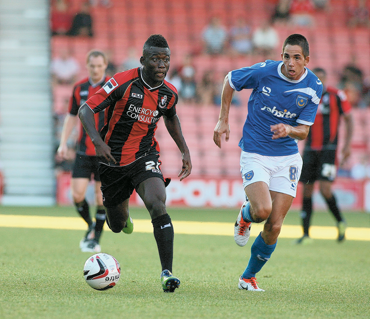 MAKING PROGRESS: AFC Bournemouth's Mohamed Coulibaly (left)