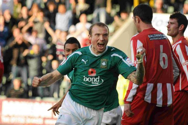 MANAGEMENT BOW: Warren Feeney in action for Plymouth