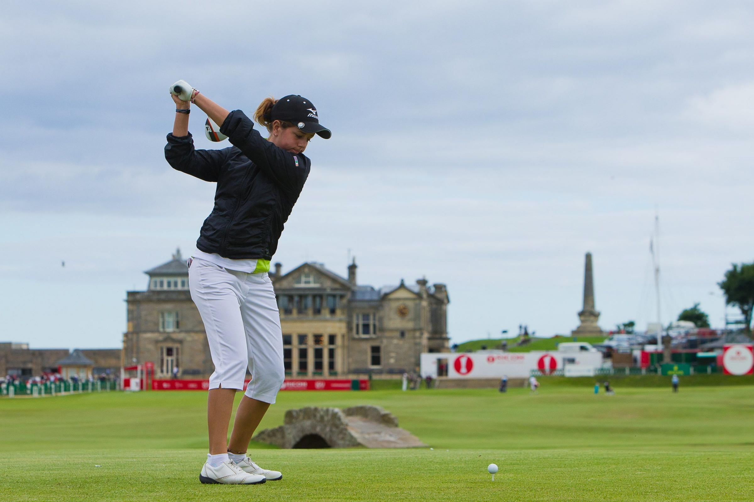 RISING STAR: Georgia Hall pictured in last year's British Open at St Andrew's
