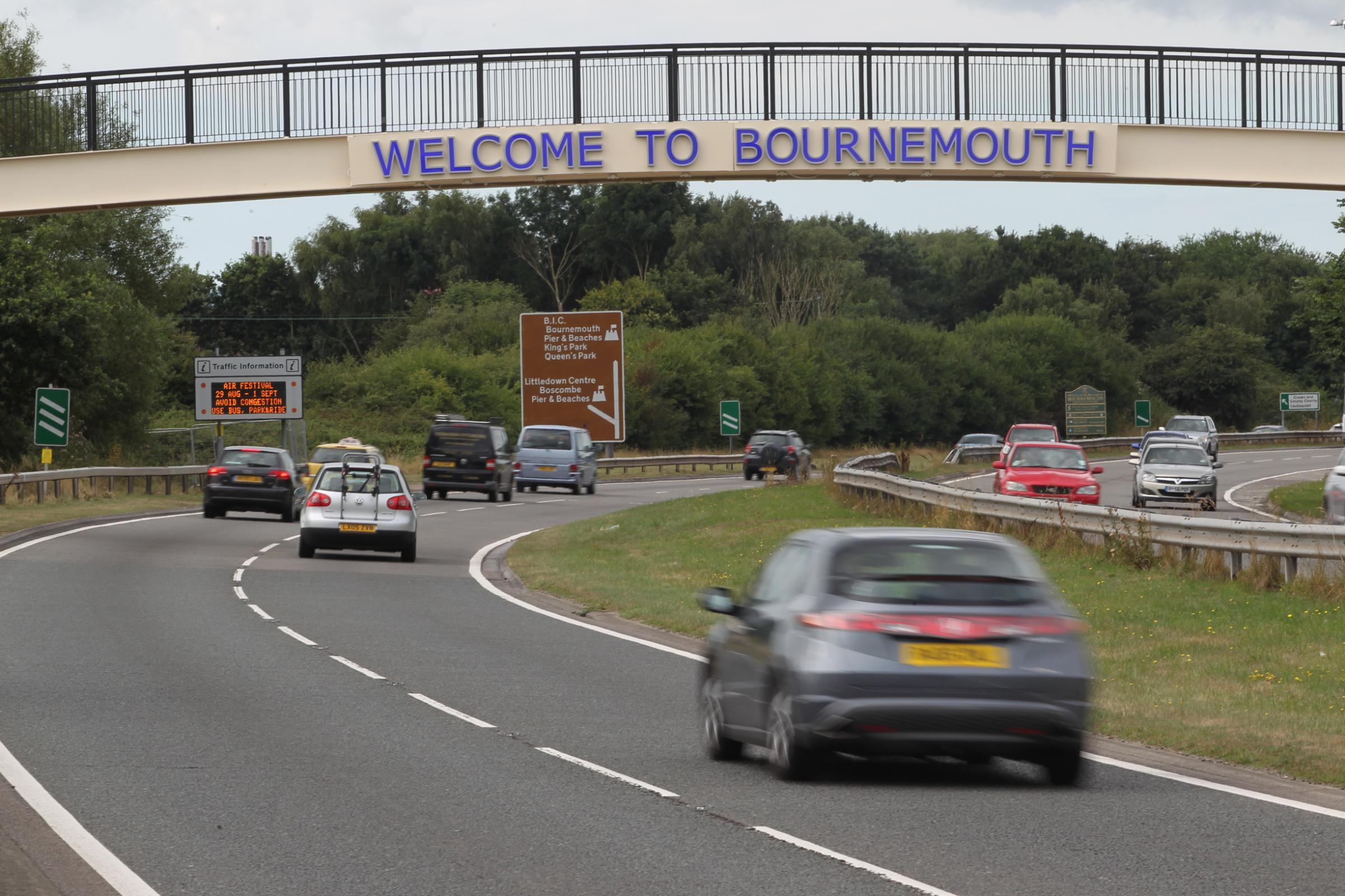 OUT OF ACTION: The Welcome to Bounrmouth sign