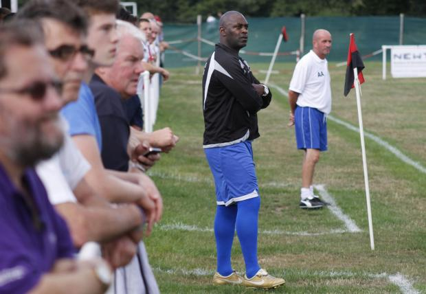 RIGHT-HAND MAN: Bournemouth Poppies' new assistant-manager Michael Cuffie (foregro