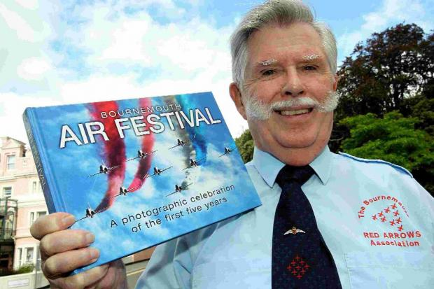 GOOD READ: Terry Trevett with the Daily Echo Air Festival book