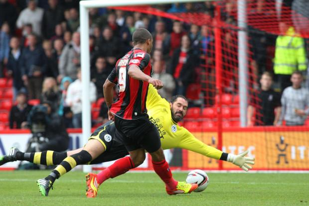 POACHER: AFC Bournemouth striker Lewis Grabban