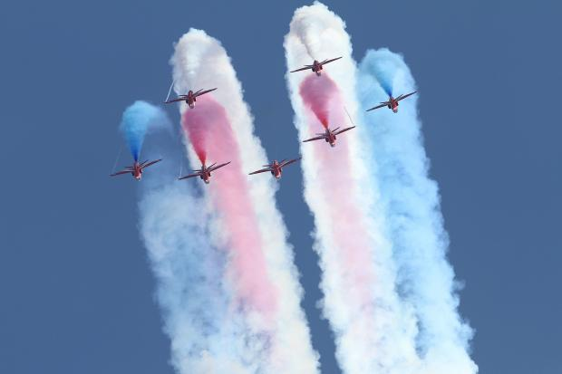 Bournemouth Air Festival - when are the Red Arrows on?