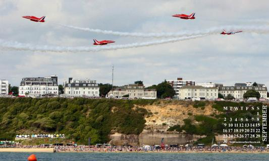 Bournemouth Echo: Red Arrows wallpaper