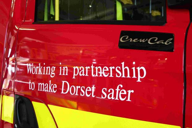 A TODDLER who trapped his head in a banister had to be released by a fire crew in Poole this morning.