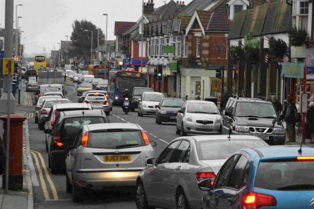 Bournemouth Echo: Traffic on Ashley Road in Poole