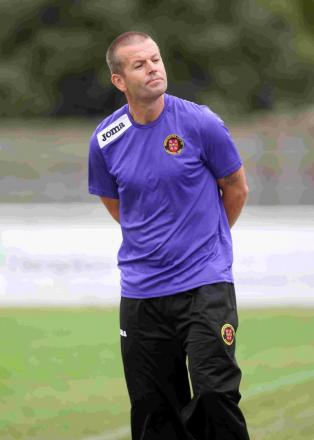GROUNDS FOR OPTIMISM: Hamworthy United manager Graham Kemp
