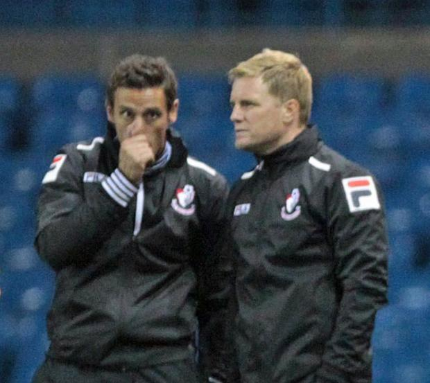 MANAGEMENT TEAM: Eddie Howe and Jason Tindall