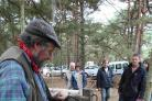 SKILLS: Peter Jameson demonstrating pole lathe turning