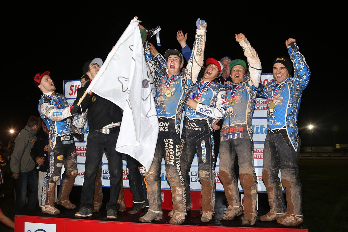 HAPPY HUNTING GROUND: Poole Pirates won the 2013 Elite League title at Birmingham